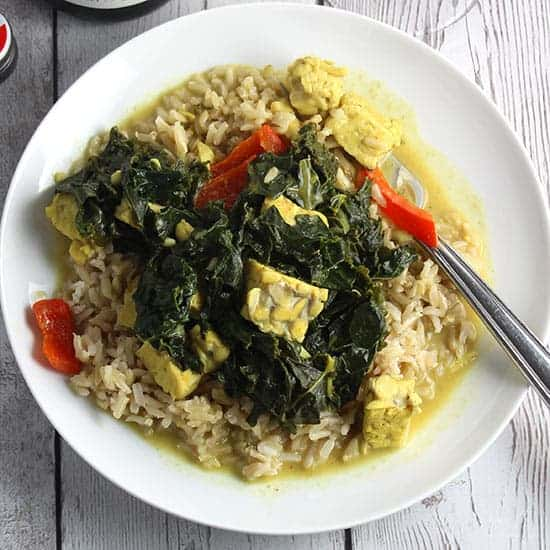 Kale and Tempeh Curry
