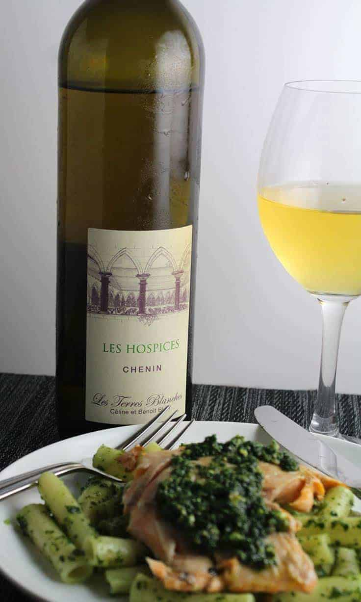 Les Hospices Chenin Blanc is a very good white wine from the Anjou region of the Loire. Pairs well with seafood and pesto.