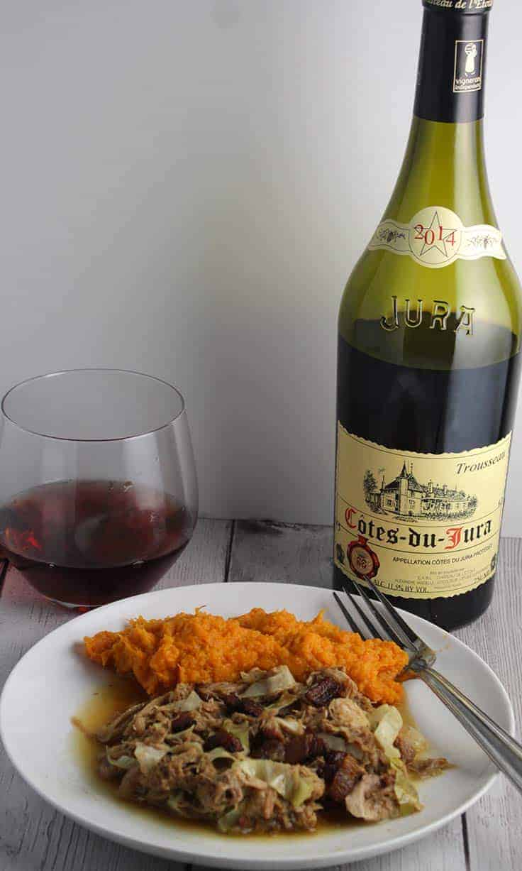 Chateau L'Etoile Cotes-Du-Jura, easy drinking light red Trousseau wine