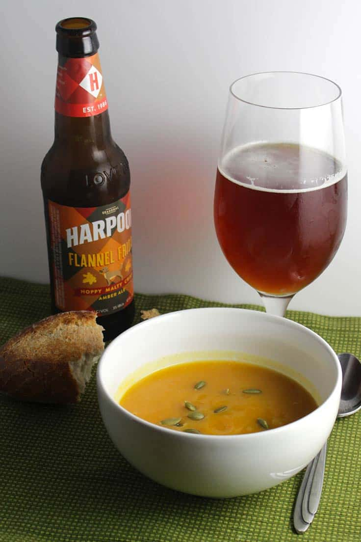 Flannel Friday Beer pairs well with Pumpkin Patch Soup.