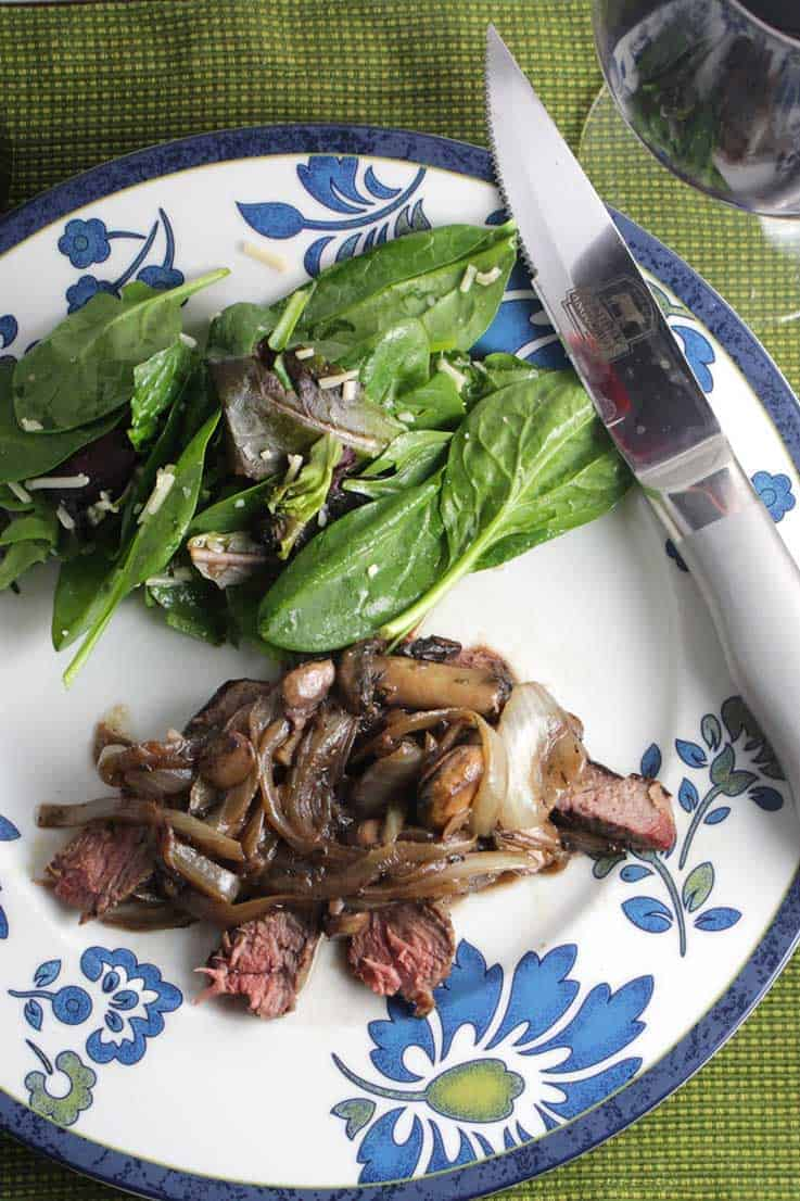 Grilled Porterhouse with Mushroom Sauce recipe combines a great steak with a scrumptious, savory sauce.
