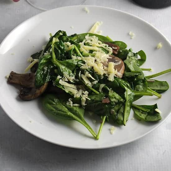 Sautéed Spinach and Mushrooms recipe
