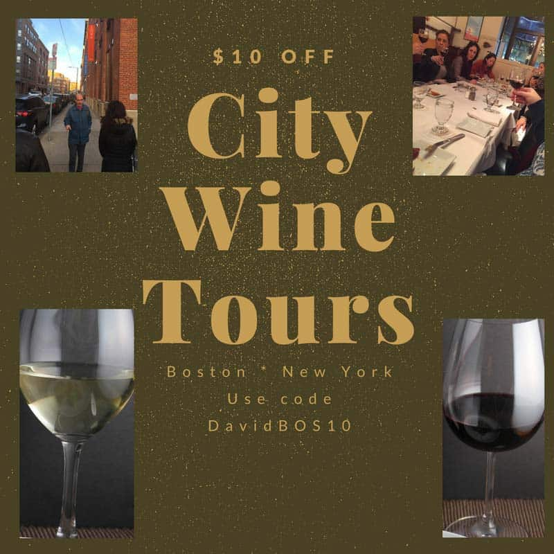City Wine Tours graphic for $10 off special