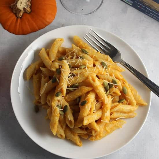 Creamy Pumpkin Penne Pasta | Cooking Chat