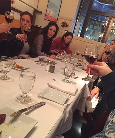 City Wine Tours group at Masa