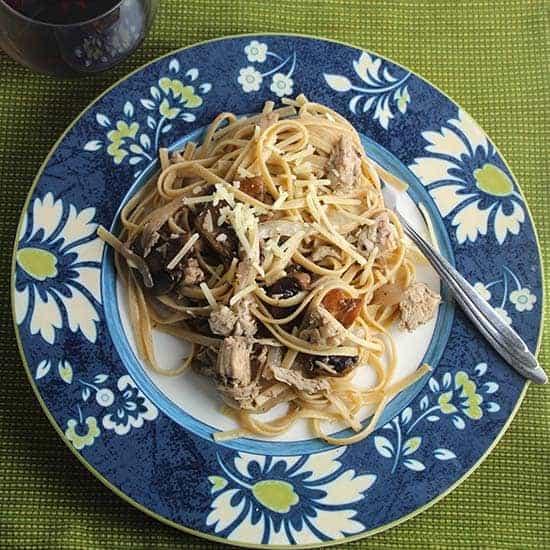 Leftover Turkey Pasta with Mu