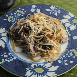 Leftover Turkey Pasta with Mushrooms #SundaySupper