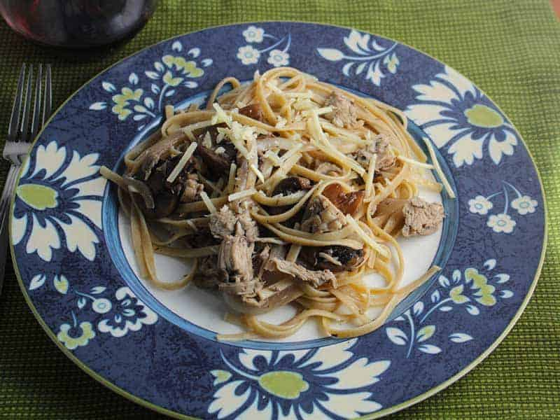 Leftover Turkey Pasta with Mushrooms recipe