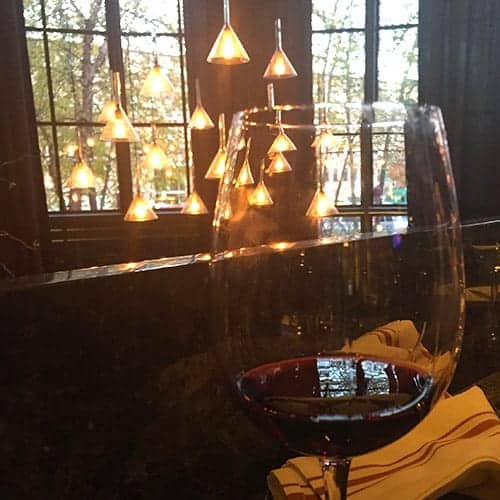 red wine at Cinquecento during City Wine Tours stop.