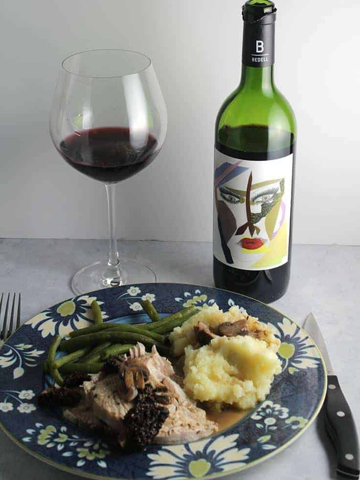 Roasted Turkey with Bedell First Crush Red Wine Blend.
