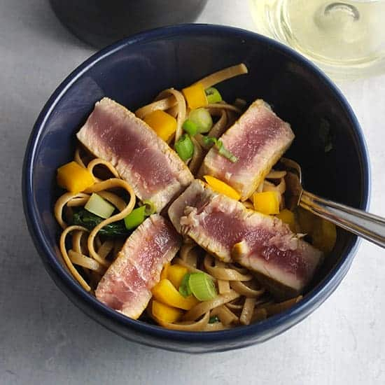 Asian tuna noodle bowls