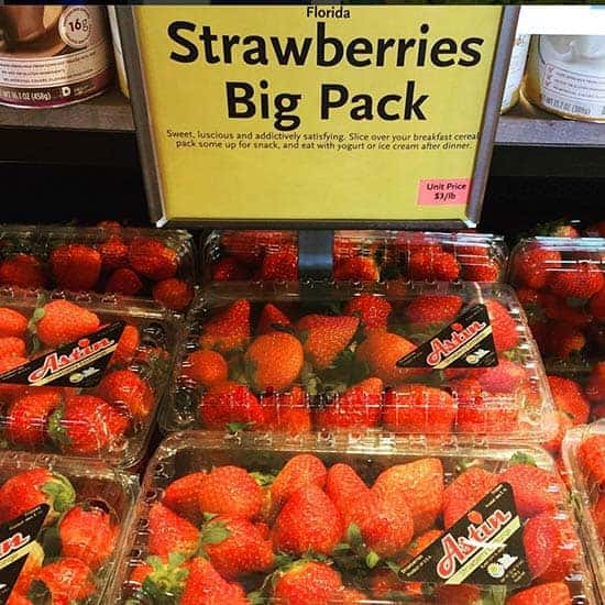 Florida Strawberries are in season throughout the winter!
