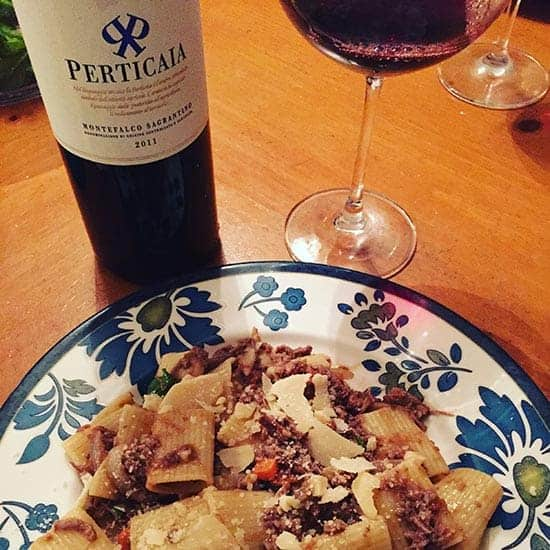 Perticaia Sagrantino, on Cooking Chat's Gift-Worthy Wines list.