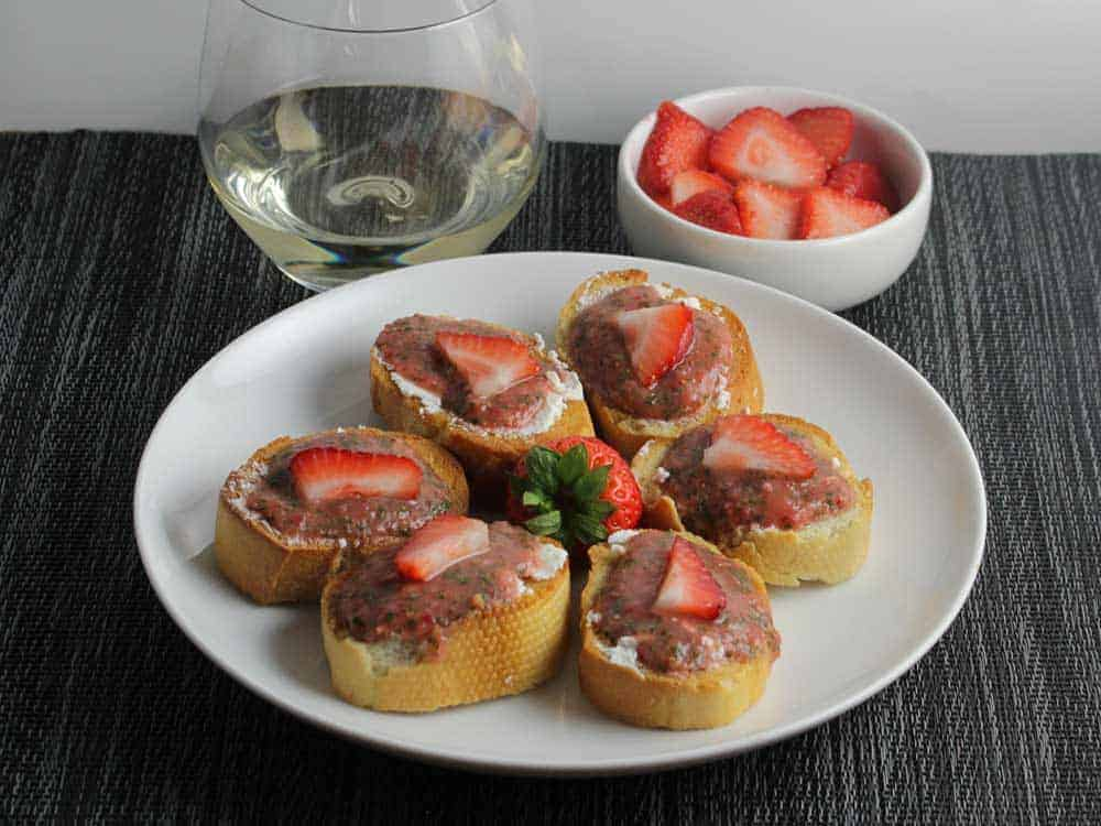 Savory Strawberry Crostini