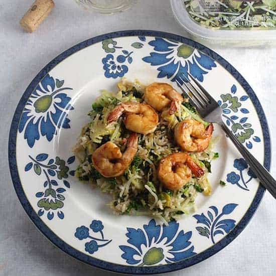Smokehouse Brussels Sprouts with Shrimp