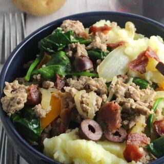 Healthier Mashed Potato Bowls #SundaySupper #GameDayIdahoPotatoes