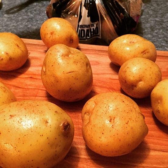 Golden Idaho potatoes