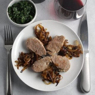 Pork Tenderloin with Onions and Canary Islands Wine #winePW