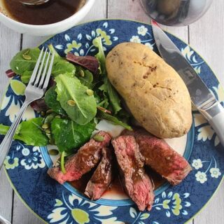 Roasted Garlic Sirloin Steak with Rosemary #SundaySupper