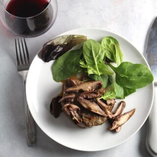 filet mignon with shiitake mushrooms recipe