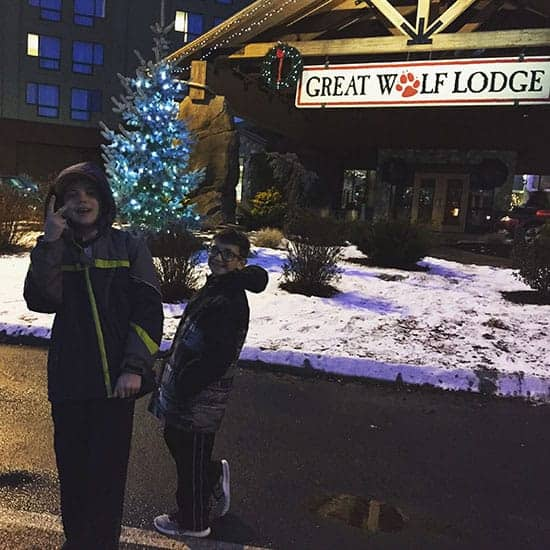 arriving at Great Wolf Lodge