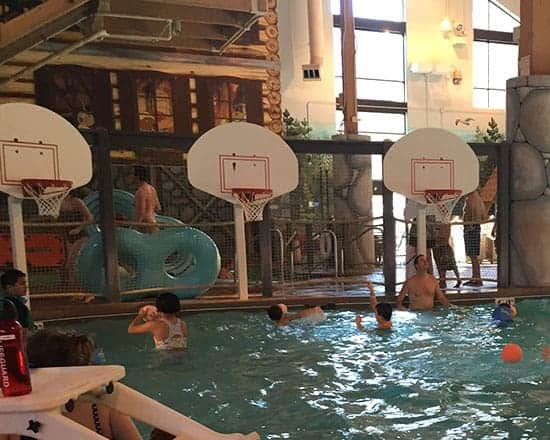 water basketball at Great Wolf Lodge.