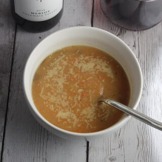 Roasted Root Vegetable Soup and Wine Pairing #winePW