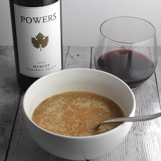 roasted root vegetable soup with wine pairing