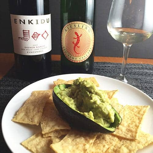 wine for guacamole