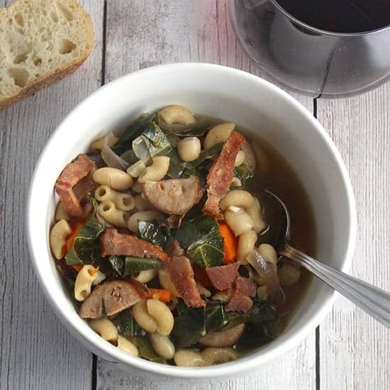 Hearty Collard Green and Chicken Sausage Soup Recipe