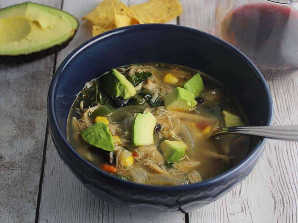 chipotle chicken and black bean soup.