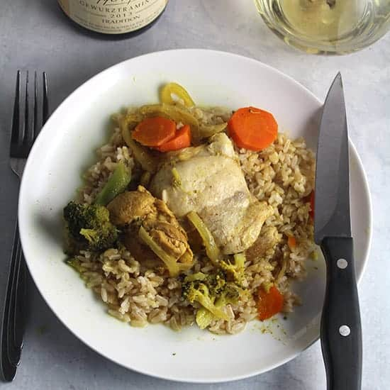 Curried Chicken Thighs recipe