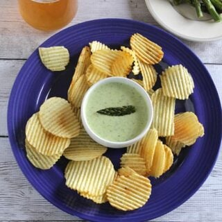 roasted asparagus dip served