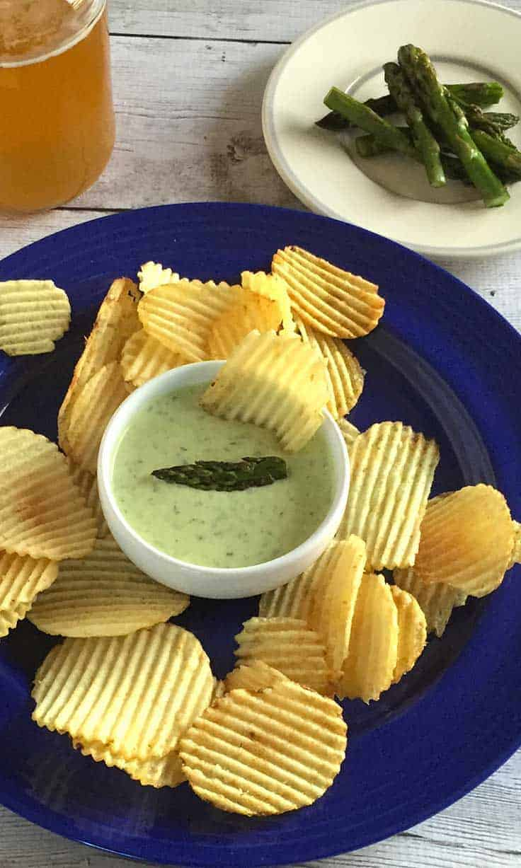 Roasted Asparagus Dip is an appetizer recipe bursting with the taste of spring!