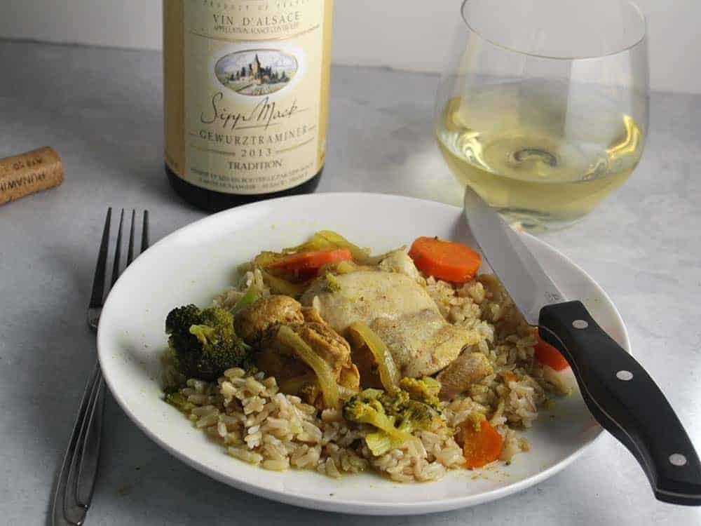 the Sipp Mack Gewürztraminer is a very good wine for curry
