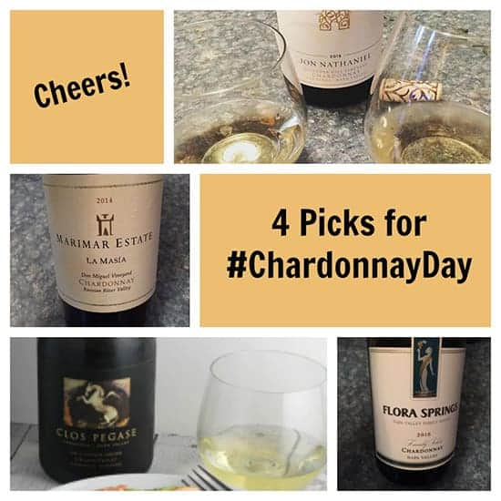 4 favorite bottles of Chardonnay wine from Cooking Chat