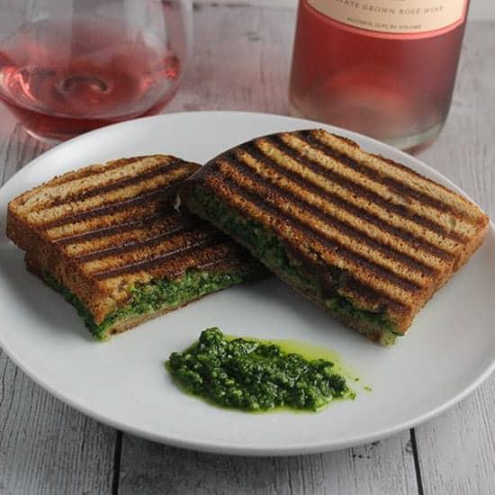 kale pesto grilled cheese