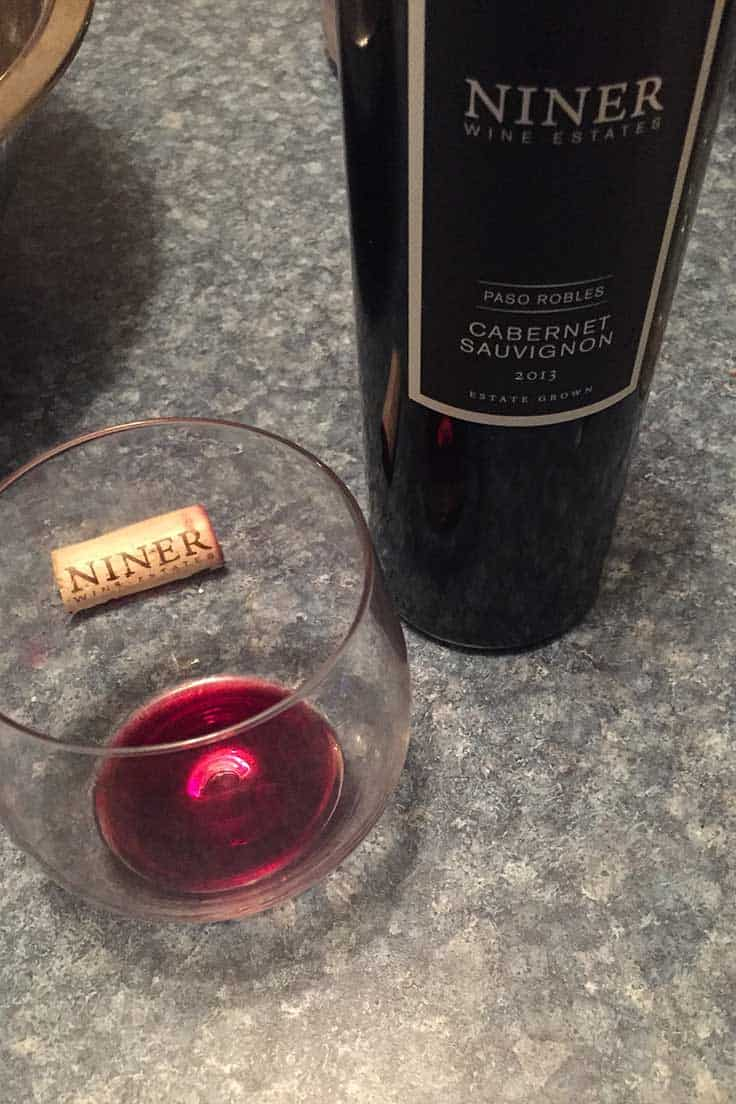 Niner Cabernet Sauvignon from Paso Robles is a good wine to pair with steak.