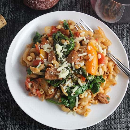 Rustic Pasta with Chicken Sausage