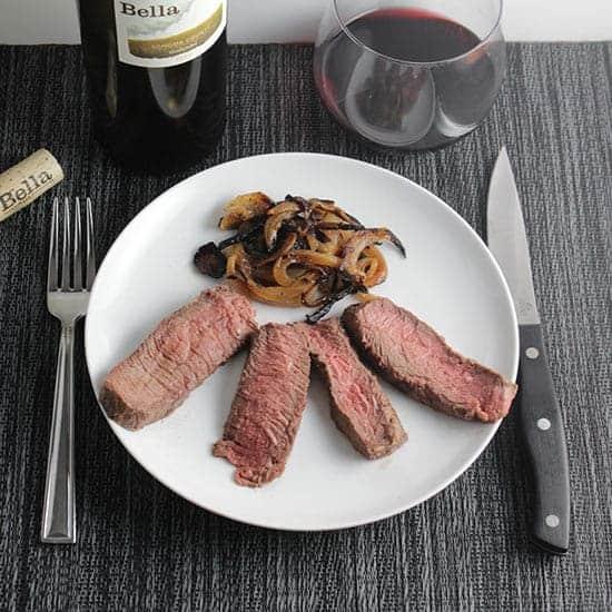 steak with bella zinfandel