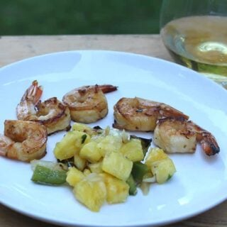 Grilled Shrimp with Pineapple Salsa recipe