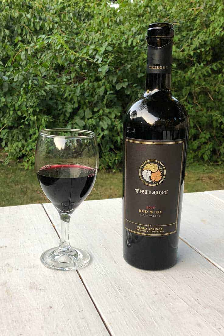 Trilogy Cabernet blend from @florasprings in Napa Valley is an excellent wine, and a great way to observe #CabernetDay!