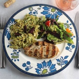 Mediterranean Grilled Chicken with a Bandol Rosé #winePW