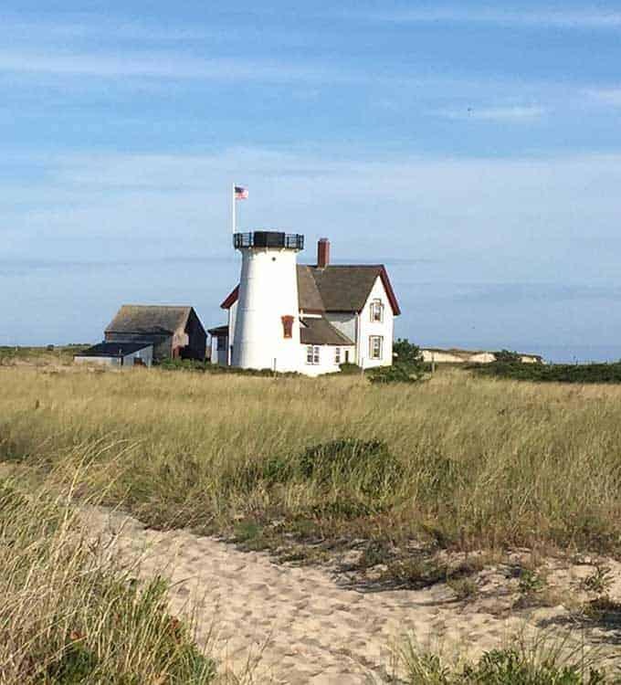 lighthouse near Hardings Beach.