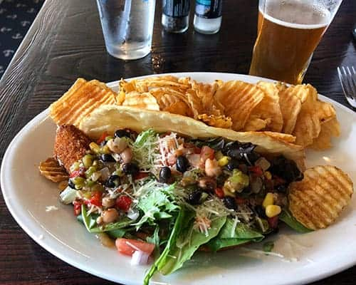 fish tacos served at Skipper Chowder House