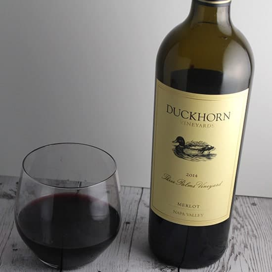 Duckhorn Three Palms Merlot is a special bottle of wine.