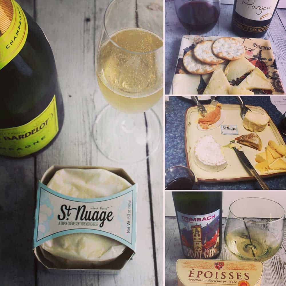 French cheese and wine pairings.