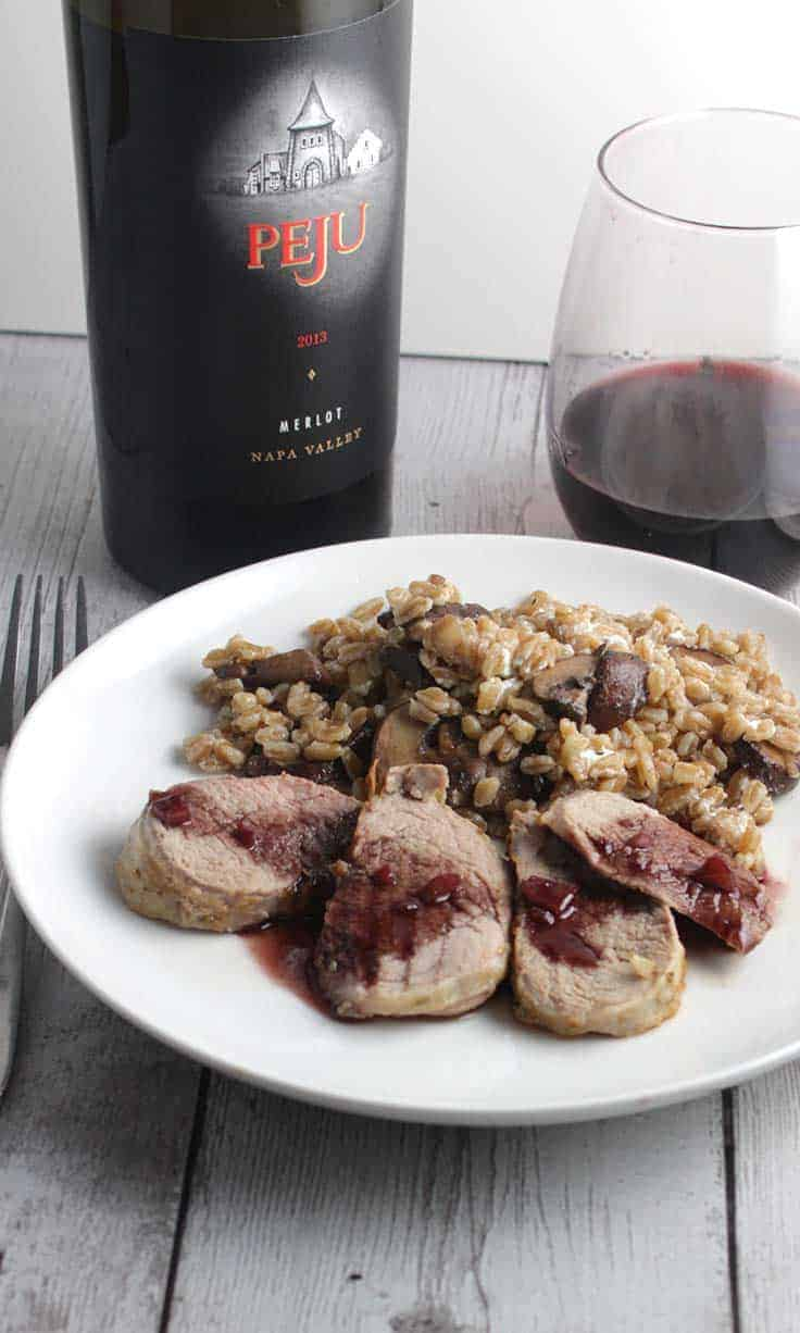 Peju Napa Merlot is a very good wine, and excellent paired with pork tenderloin. #Merlot #wine #NapaWine