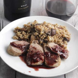 Pork Tenderloin with Blackberry Merlot Sauce #winePW #MerlotMe
