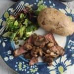 ribeye with mushrooms